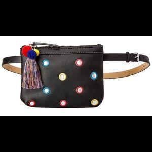 NWT Juicy Couture black tassel mirror belt bag